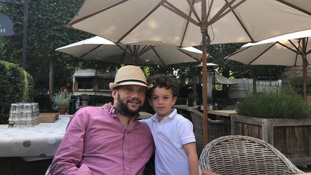 Neil Danziger with son Henry