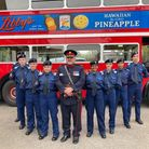 Deputy Lieutenant of Havering,Nick Bracken OBE with local police cadets.