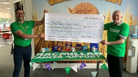 McVities staff raised £10,000 for Macmillan Cancer Support