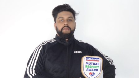 Hafiz Ahmed handed Nationwide Mutual Respect Award for August