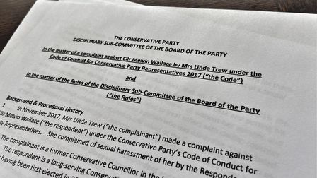 Conservative sexual harassment complaint report