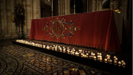 A row of candles from a previous TimeNorfolk Doorway of Hope service at Norwich Cathedral. Picture: