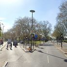 Green Lanes at the junction withWest Green Road,