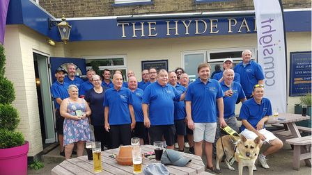 More than £800 has been raised from a charity golf day at The Hyde Park Public Housein St Neots.