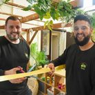 Andrew and Shane Didwell, owners of Treetops Nursery at Hethersett VC Primary School, cutting the ri
