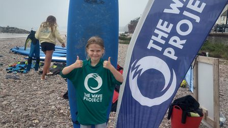 Nine-year-old Serena Johnson is fundraising for The Wave Project