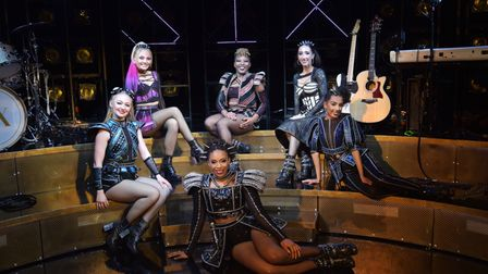 The cast of Six the Musical at Norwich Theatre Royal.