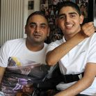 Karl Sehmbi (left) with son Arun, who died in 2018 after a long struggle with a rare brain disorder