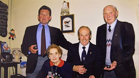 Gordon Peacock with members of the Royal British Legion