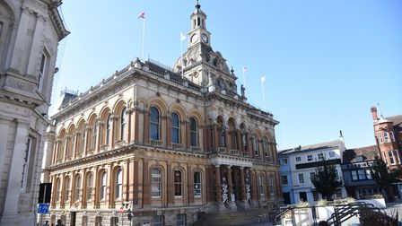 The Town hall. Historical buildings in Ipswich town centre PICTURE: CHARLOTTE BOND