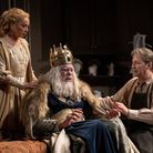 Emma Amos (Her Ladyship) with Matthew Kelly (Sir) and Julian Clary (Norman)