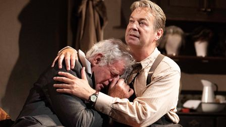 Matthew Kelly (Sir) with Julian Clary (Norman) in The Dresser