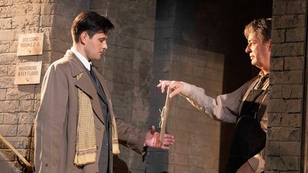 Samuel Holmes (Mr Oxenby) with Julian Clary (Norman) in The Dresser