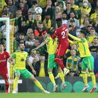 Divock Origi of Liverpool heads for goal during the Carabao Cup match at Carrow Road, NorwichPictur