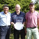 Mike Phillips and Bryan Nunn, with captain Gavin Thompson, were the winners of theSpitfire Salver at Heydon Grange Golf Club