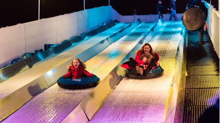 The new ice slide attraction at The North Pole