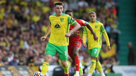 Billy Gilmour of Norwich in action during the Premier League match at Carrow Road, NorwichPicture
