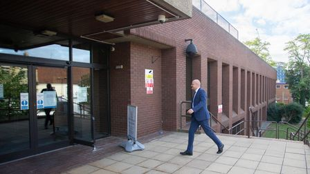 Aigars Balsevics, Former Mayor of Wisbech arrives at court.,