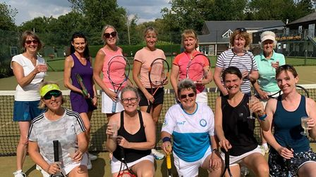 The ladies of Hemingfords Lawn Tennis Club after another very successful end of season doubles tournament.
