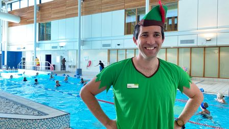 Nuffield Health general manager Phil Wright dressed as Peter Pan on National Fitness Day
