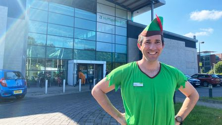 Nuffield Health Norwich general manager Phil Wright dressed as Peter Pan