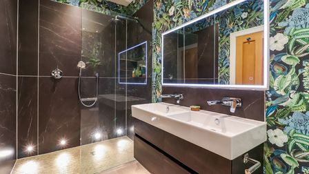 One of the St Albans property's stylish bathrooms.