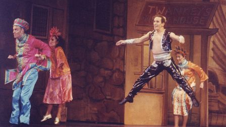 Wayne Sleep in Aladdin., the 1987 Theatre Royal Panto. Picture: EDP Library.