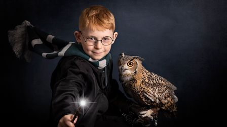 Oscar Parke, age 8 got to experience Evies owl in a photoshoot