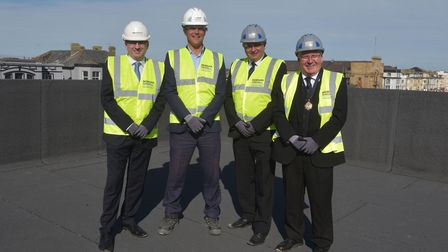 Great Yarmouth Marina Centre topping out ceremonyChris Starkie, Alister Broadberry, area manager fo