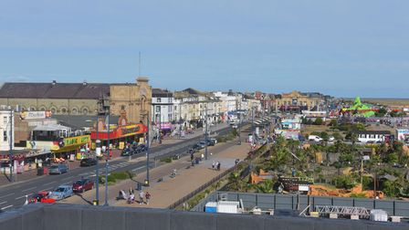 Great Yarmouth Marina topping out ceremony. Views from the roof. Pictures: Brittany Woodman
