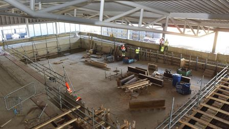 Great Yarmouth Marina Centre topping out ceremony. The future swimming pool. Pictures: Brittany Woo