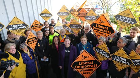 Former Lib Dem leader Jo Swinson during general election campaigning in 2019. Photograph: Aaron Chow