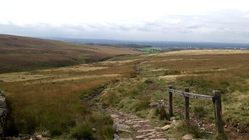 Looking down from the path to Great Hill