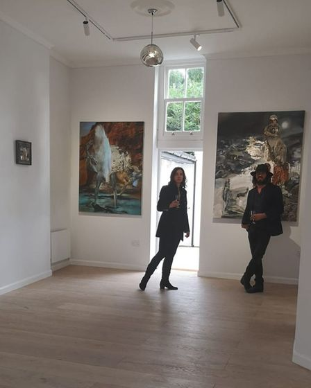 Irina D and Pato Bosich at their gallery Number Three Highgate