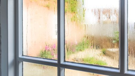 Condensation on a window at Fineline, Kent