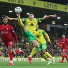 Christos Tzolis made his mark in more ways than one for Norwich City against Liverpool