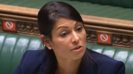 Home secretary Priti Patel in the House of Commons. Photograph: Parliament TV.