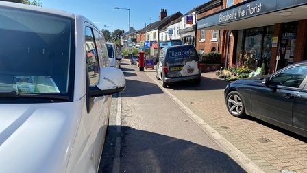 Delivery vans at Elizabeths the Florist have been blocked off due to people parking on the dropped kerb