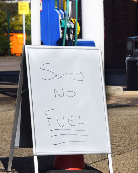 Sainsbury's petrol station at Attleborough closes as they run out of fuel after customers panic buy.