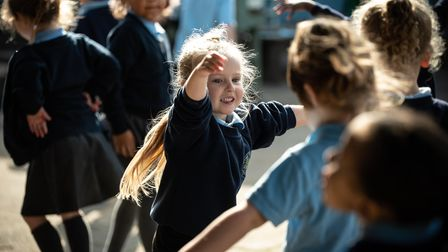 Children at The Willows Primary School in Ipswich enjoyed a movement session with Suffolk MIND. Pi