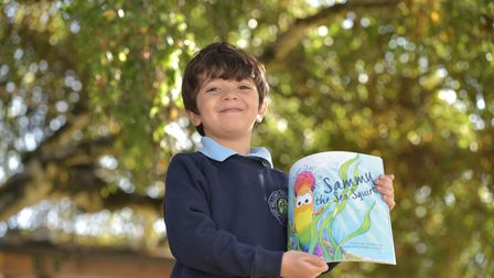 Children at The Willows Primary School in Ipswich got a special visit from children's author Ezra He