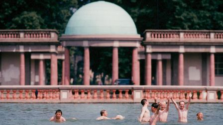 Children swimming in the boating lake at Eaton Park in Norwich. Picture: Archant Library