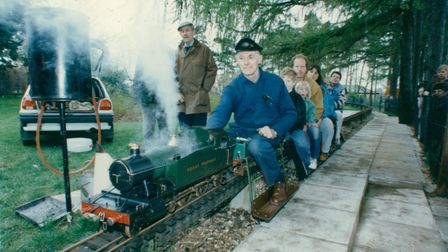 All aboard the Eaton Park Miniature Railway in 1993.