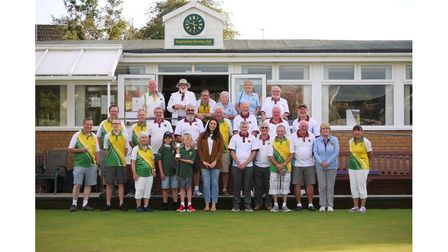 All smiles for members of Congrsbury and Nailsea Bowls Club.