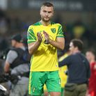 Ben Gibson of Norwich applauds the fans at the end of the Carabao Cup match at Carrow Road, Norwich