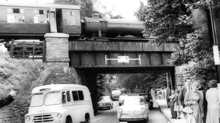 A railway accident on the bridge at Livermead, Torquay, in August, 1962 (PR7086)