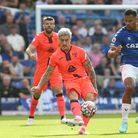 Mathias Normann of Norwich and Salomon Rondon of Everton in action during the Premier League match a