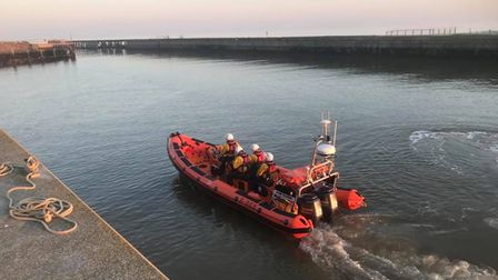 Lifeguard crews rescued a father and son out at sea at Southwold
