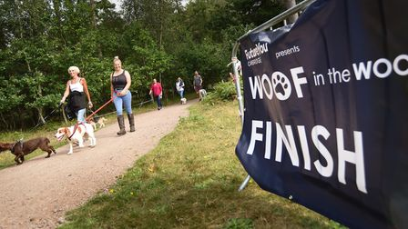 Woof in the Woods saw participants walk either 2.5km or 5km through Thetford Forest
