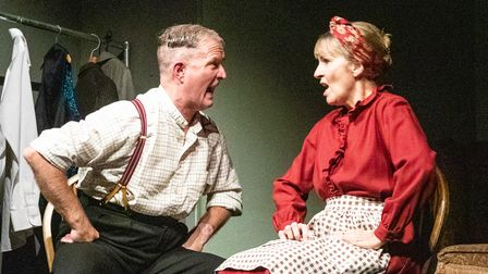 Simon Parr as Jack andMary Powell as Liz in Happy Jack at the Barn Theatre in Welwyn Garden City.